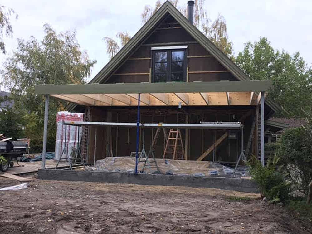 tilbygning til bolig lavet af Byberg-TSM