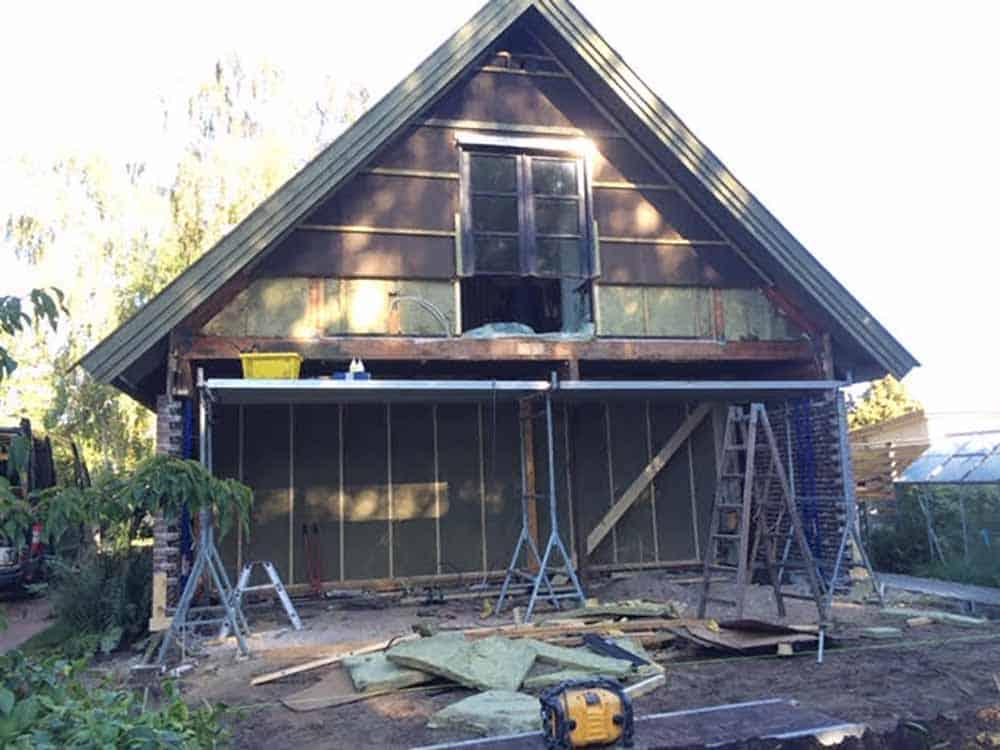renovering af hus med to etager