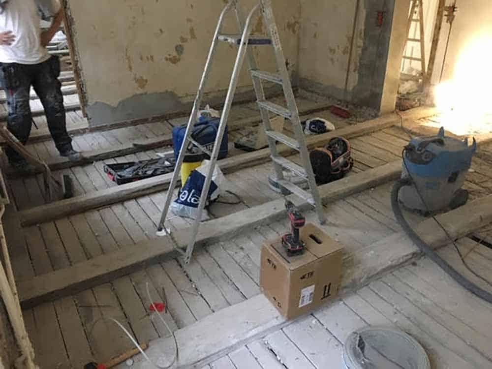ombygning af gulv udført af Byberg-TSM